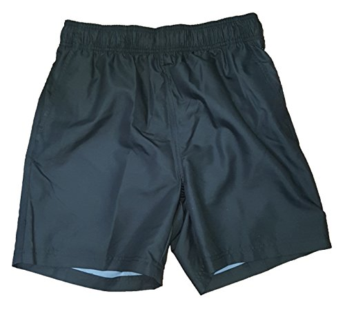 "Faded Glory Black Solid Above Knee 18"" Outseam Swim Short..."