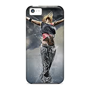 Top Quality Rugged Fantasy Girl Flying Case Cover For Iphone 5c