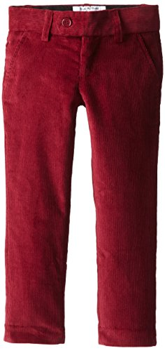Isaac Mizrahi Little Boys' Slim Fit Corduroy Pant, Burgundy, 4