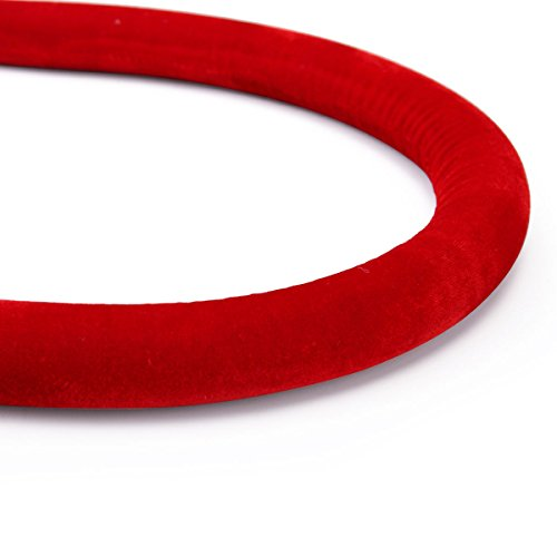 JAXPETY Red Velvet Barrier Rope with Sliver Color Plated Hooks Crowd Control Stanchion New by JAXPETY (Image #8)