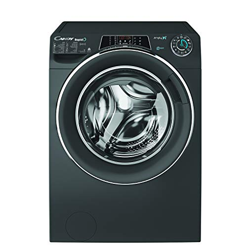 Candy WasherDryer 9kg wash + 6kg dry - 1400rpm - Anthracite - Chrome Ring - Rapido - Wifi+BT - Steam - Class AAA - 6D Display ROW4966DHRR/1-19