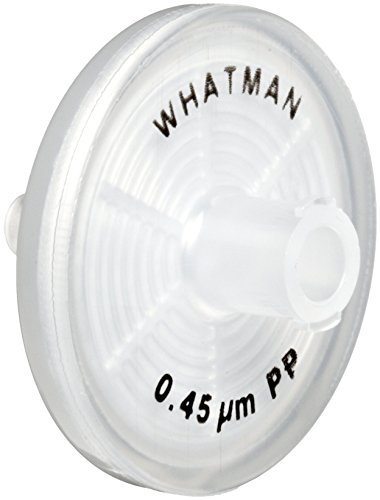 Whatman 6786-2504 depth Polypropylene Puradisc 25 Syringe Filter, 0.45 Micron (Pack of 50) by Whatman