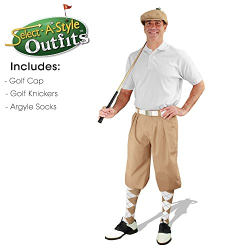 メンズselect-a-styleゴルフKnicker Outfit – カーキ