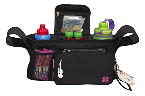 STOLLER ORGANIZER, Fits all Strollers, Deep Insulated Cup Holders, Large (Bumble Bee Baby Bunting)