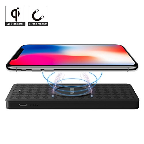 Price comparison product image Wireless Power Bank,  MAGQI Magnetic Qi Wireless Power Bank 6000mAh Fast Charging for iPhone 8 / 8 Plus,  iPhone X,  Samsung Galaxy Note 8 / S8 / S8 Plus,  S7 / S7 Edge and Qi-Enabled Devices