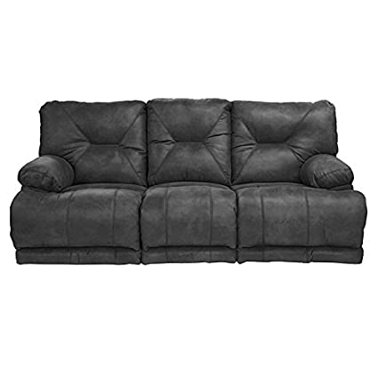 Amazon Com Catnapper Voyager Power Lay Flat Reclining Sofa In Slate