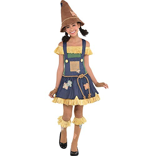 Suit Yourself The Wizard of Oz Scarecrow Costume for Girls, Size Large, Includes a Dress, a Belt, Knee Socks, and More ()
