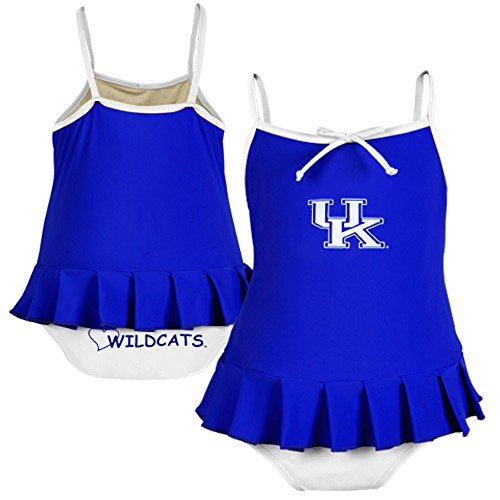 Kentucky Wildcats Cheerleader In Training Swimsuit Royal Toddler Girl's 4T