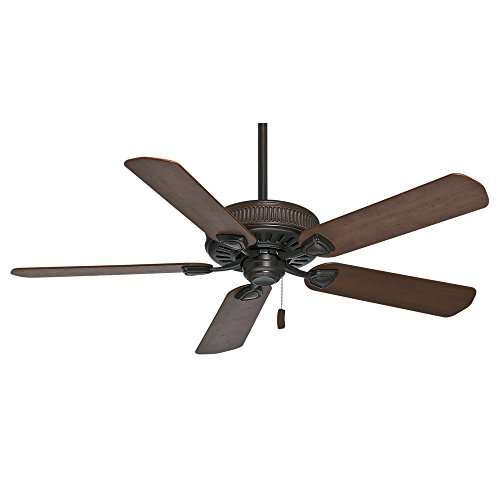 Casablanca 54001 Ainsworth 54-Inch Ceiling Fan with Five Distressed Walnut/Dark Walnut Blades, Brushed Cocoa ()