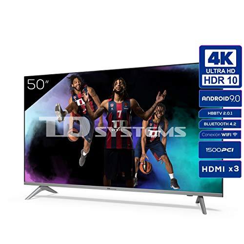 🥇 Televisiones Smart TV 50 Pulgadas 4k UHD Android 9.0 y HBBTV