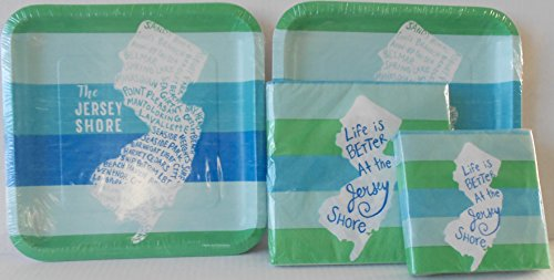 'Life is Better at The Jersey Shore' Paper Plates & Napkins Bundle