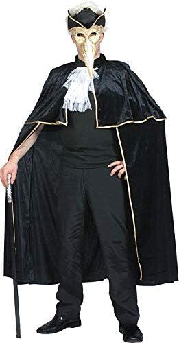 Bristol Novelties - Disfraz de veneciano (capa negra con borde ...