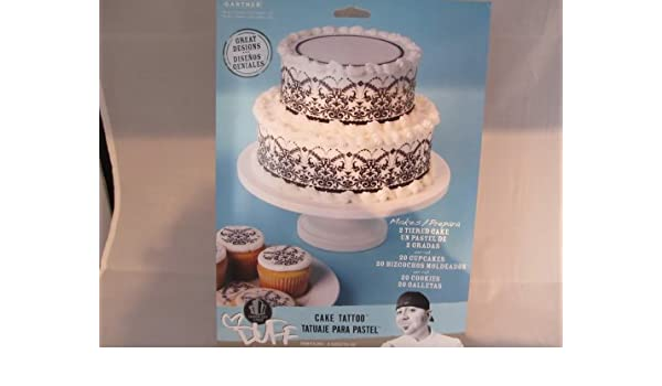 Amazon.com : Duff Goldman Cake Tatoo Elegant Black Wrap : Gourmet Food : Grocery & Gourmet Food