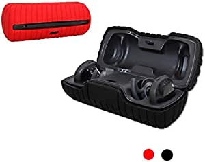 Bose SoundSport Free Silicone Case, Esimen Protective Skin for Bose SoundSport Free Wireless Earbuds Shockproof Easy Carrying Protective Cover (Cover Black)
