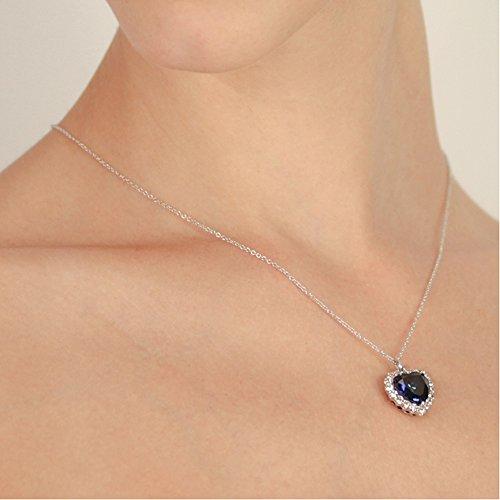 CARAT* London femme  Argent 925/1000  Argent|#Silver Cœur   Bleu Andere