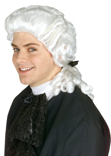 Rubie's Costume Colonial Judge Wig, White, One Size (Colonial Day Costumes)