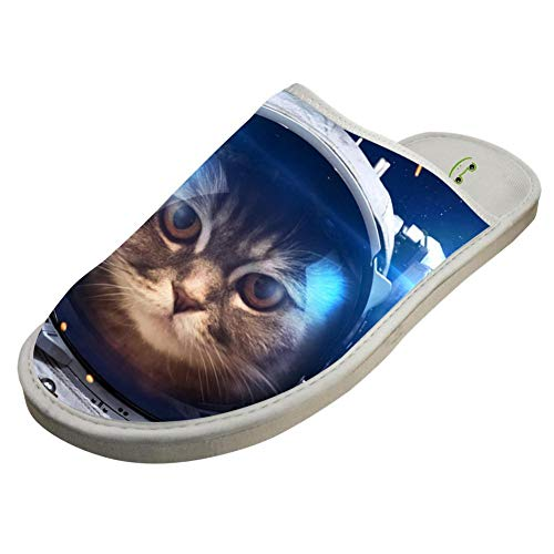 Warm Cute Winter Slippers Slip Adult Space White Shoes Indoor Comfort Home Cat Unisex In Custom
