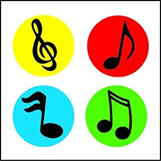 product image for Colorful Music Notes Incentive Stickers - Pack of 1728