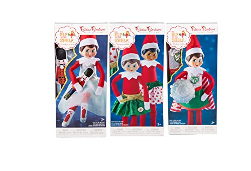 Elf on The Shelf 2018 Value Outfit Pack: Party Skirt Set, Superhero Set and Sugar Plum Duo]()