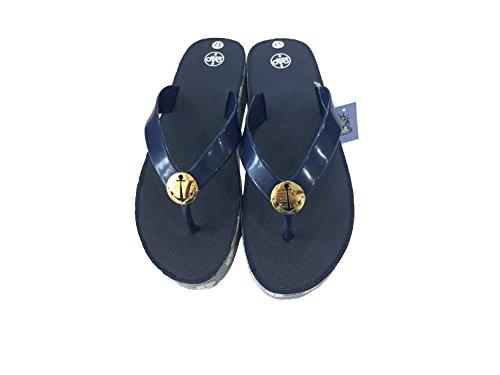 24p Kvinners Slippers Sandaler Komfortable Hverdags Flip-flop Midten Hæler Slip-on, Marineblå Eller Svart Marine