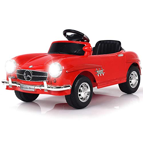 Costzon Ride On Car, Licensed Mercedes Benz 300SL, 6V Electric Kids Vehicle with Manual/Parental Remote Control Modes, Lights, Music, MP3, Volume Control, -