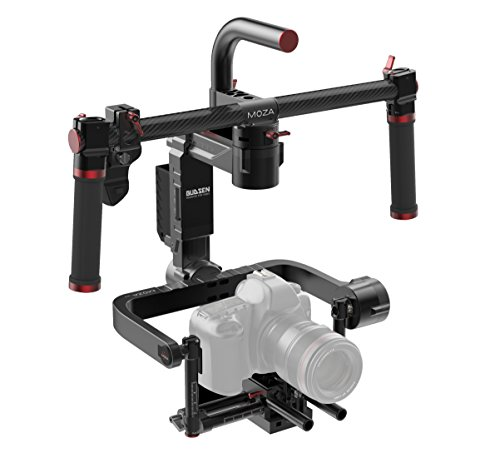 MOZA Lite II Premium Kit 3-Axis Motorized Handheld Gimbal Brushless Stabilizer Support Max.Payload 11lb/5kg For Blackmagic Series,Panasonic Lumix Series,Canon EOS Series,Sony a7 Series,Nikon D Series by Moza