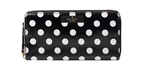 Kate Spade daycation neda wallet, black/cream dot by Kate Spade New York