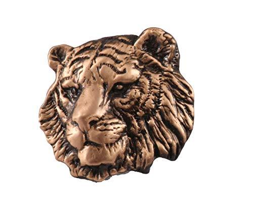 Creative Pewter Designs Tiger Head, Copper Plating Pin, MC108