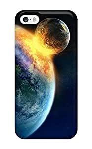 Premium Colliding Planets Back Cover Snap On Case For Iphone 5/5s