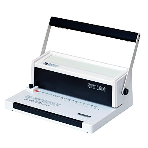 TruBind Coil-Binding Machine - TB-S20 - Professionally Bind Books and Documents - Office or Home Use - Adjustable Hole-Punching and Paper-Size Settings