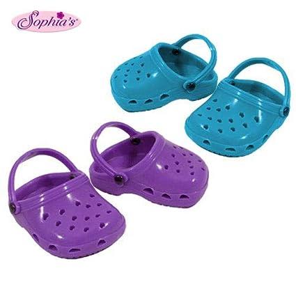 7ed1c4a700c91 Purple & Teal Polliwog Doll Shoes Set, Fits 18 Inch American Girl Dolls