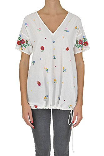 Twin-Set T-Shirt Donna MCGLTPC03072E Poliestere Bianco
