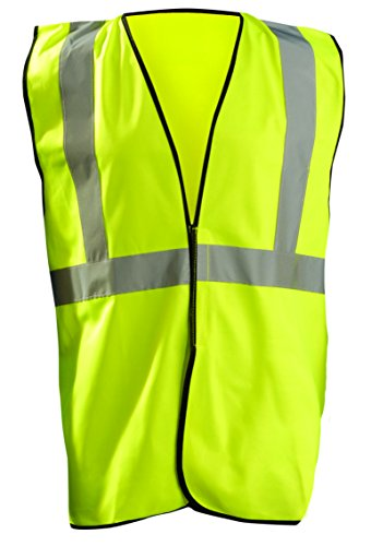 OccuNomix ECO-G-Y4/5X High Visibility Value Solid Standard Safety Vest, Class 2, ANSI Type R, Yellow, 4X-Large/5X-Large (Type 2 Vest)