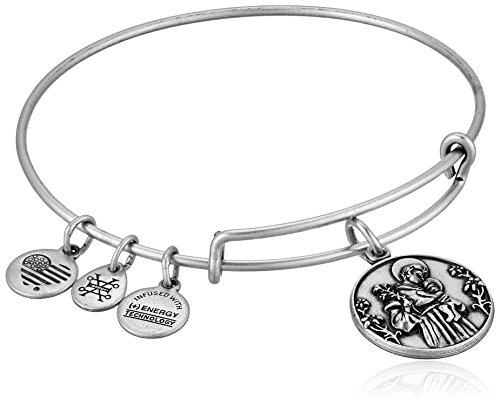Alex and Ani St. Anthony II EWB Rafaelian Silver Bangle Bracelet by Alex and Ani