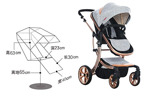 Baby Stroller High Landscape Two way shockproof baby can sit and sleep Baby use four seasons Red by Aimle (Image #7)