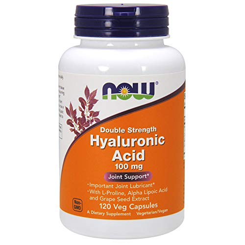 - NOW® Hyaluronic Acid, 100mg, 120 Veg Caps