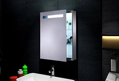 Spiegelschrank mit Beleuchtung für Badezimmer (70x45 cm) - FL0811B ...