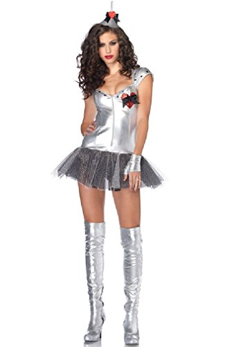 [8eighteen Sexy Tempting Tin Man Wizard Of Oz Adult Halloween Costume] (Tempting Tin Man Sexy Costumes)