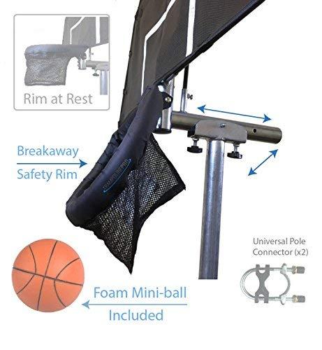 Jump Slammer Trampoline Basketball Hoop | Easy Install | Foam Ball Included | [Lifetime Parts Warranty] by Trampoline Pro (Image #2)