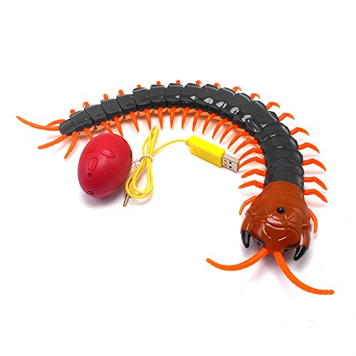 Tipmant High Simulation Large Size RC Centipede Scolopendra Remote Control Vehicle Car Animal Electric Toy Rechargeable Battery Included Kids Gift ()