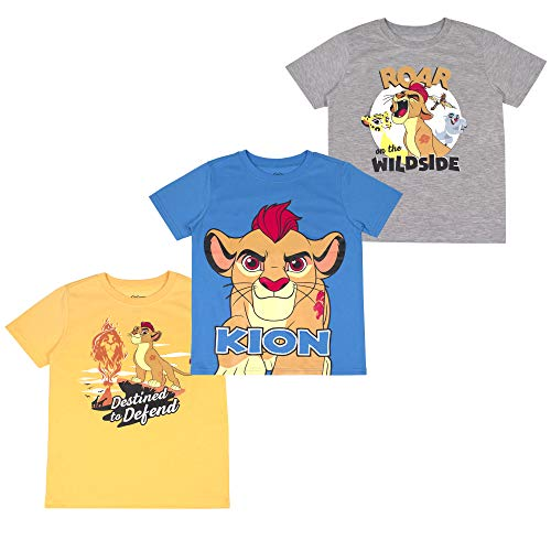 Disney Lion Guard The Toddler Boys' T-Shirt (Pack of 3) 5T Grey]()