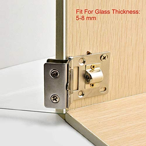stainless steel Glass hinge Cupboard Cupboard Door hinge Glass clamp for 5-8 mm thick 4 pieces