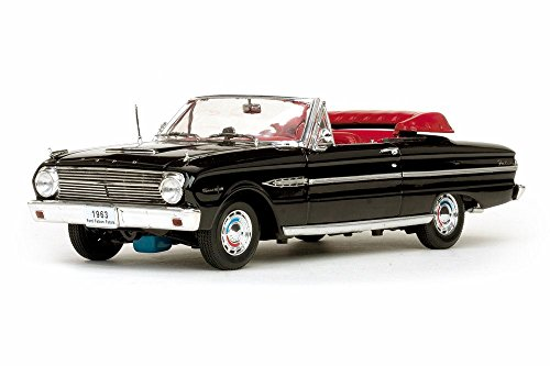 Ford 1963 Convertible (1963 Ford Falcon Convertible, Black - Sun Star 4533BK - 1/18 Scale Diecast Model Toy Car)