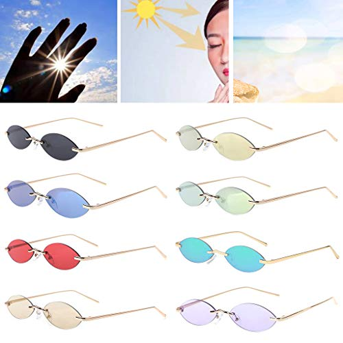 Chics Small Uv400 Groomy Driving Hd Eyewear Outdoor Ovale Lunettes 4 Fashion Soleil De Monture Sans Lens UtBqt8rw