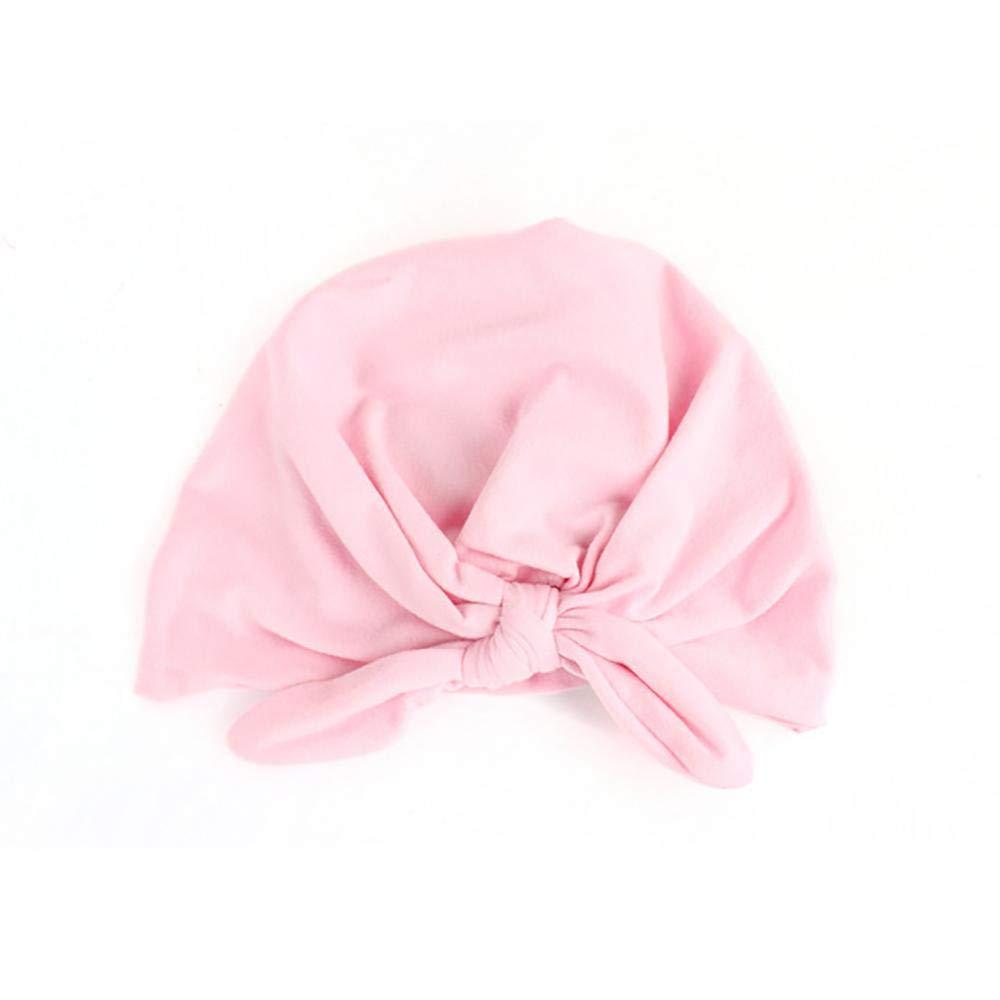 Culer Baby Kleinkind Kind-Knoten-Hut Hasenohren Binden der Kopfkappe Tuch Zubeh/ör f/ür M/ädchen Niedliche Turban