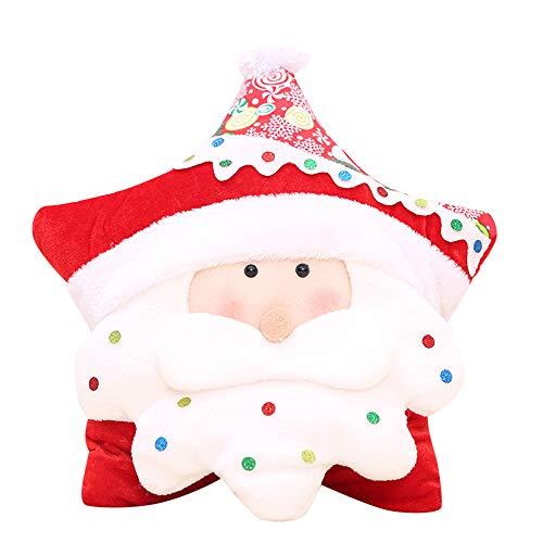 Christmas Pillow Covers, HunYUN Christmas Candy Five-Star Pillow Holiday Decorations Commodity Christmas -