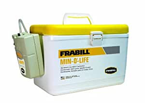 Frabill Personal Bait Station, 8-Quart, White/Yellow