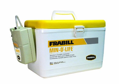 Frabill Personal Bait Station, 8-Quart, White/Yellow, Outdoor Stuffs