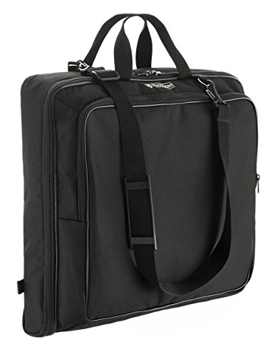 Prottoni 40' Garment bag - Suit Bag with Mutiple Pockets - YKK Elements - Shoulder Strap