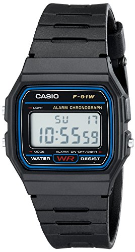 Casio Men's Classic Black Resin Strap Watch Digital F91W-1